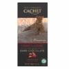 Kép 1/2 - Cachet Ét tábla cseresznye-mandula 57% organikus 100g