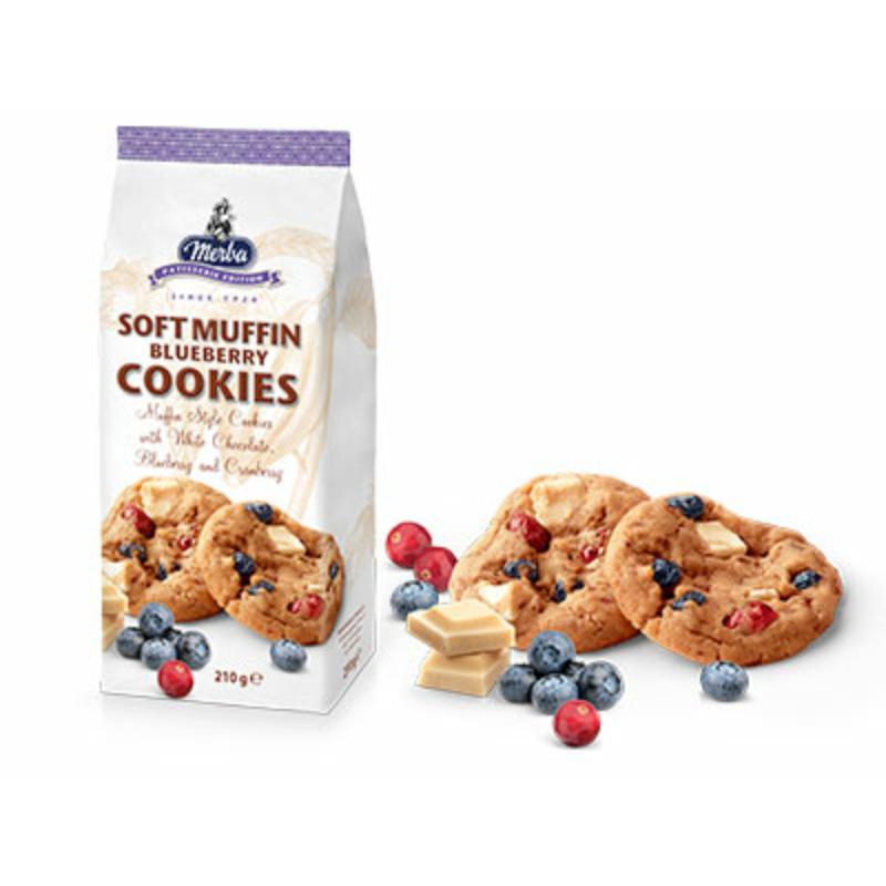 Merba puha Áfonya-Fehércsoki Cookies 210g