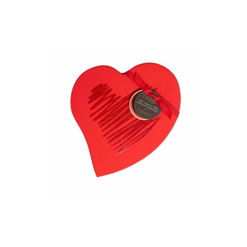 Cachet Praliné válogatás szív piros 185g