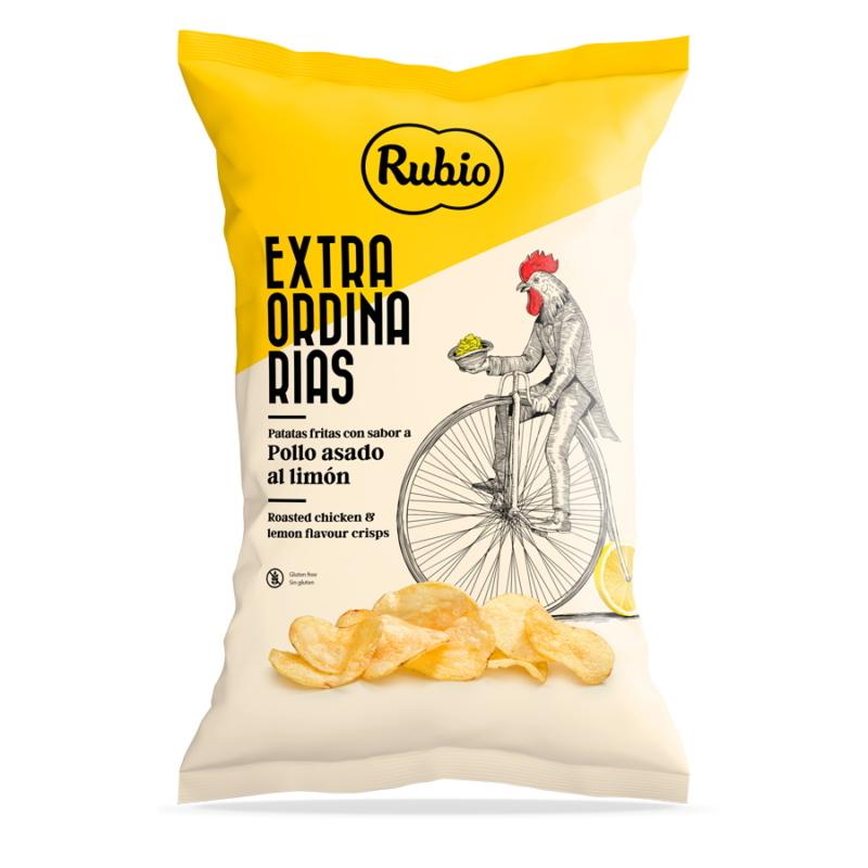 Rubio Sültcsirkés-citromos chips 110g
