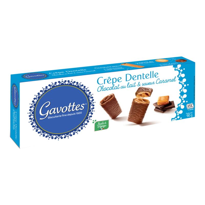 Gavottes tejcsokoládé-karamell ostya 90g