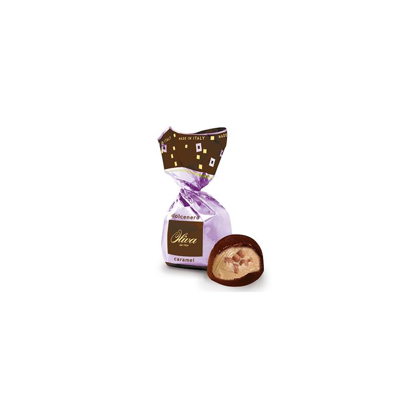 Tejcsokoládé - karamellkrém sós karamell darabokkal