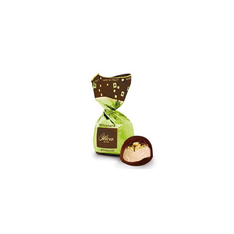 Étcsokoládé - pisztácia krémmel