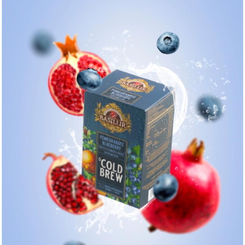 Basilur hideg tea Gránátalma-Áfonya