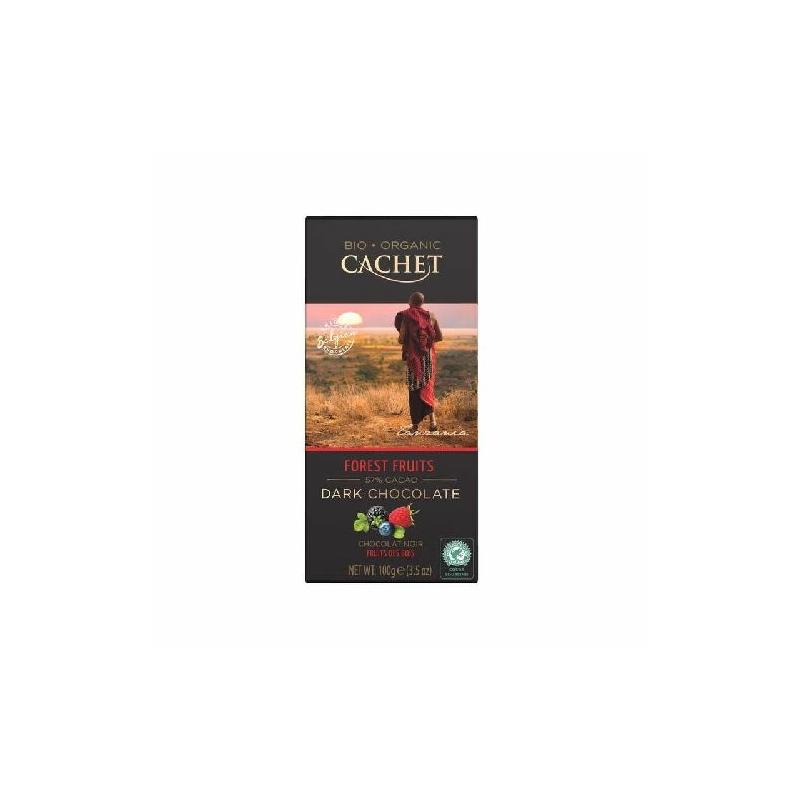 Cachet Ét tábla erdei gyümölcs 57% organikus 100g