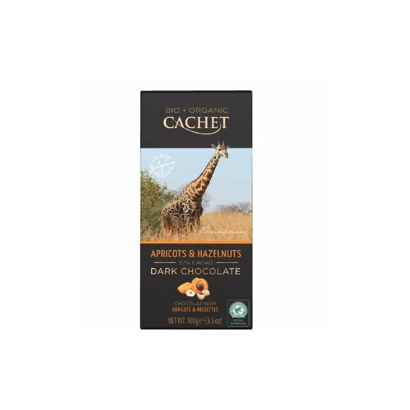 Cachet Ét tábla sárgabarack-mogyoró 57% organikus 100g